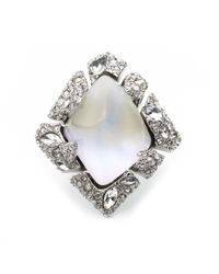 Alexis Bittar - Metallic Glacial Crystal Shattered Cocktail Ring You Might Also Like - Lyst