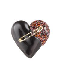Alexis Bittar | Encrusted Black Cherry Broken Heart Pin You Might Also Like | Lyst