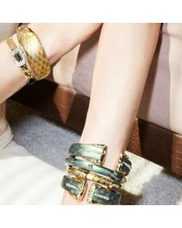 Alexis Bittar - Multicolor Wrist Watch Style Leather Strap Bracelet - Lyst