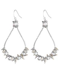 Alexis Bittar Metallic Crystal Encrusted Mosaic Futuristic Tear Earring You Might Also Like