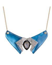 Alexis Bittar - Blue Screw Studded Bib Necklace - Lyst