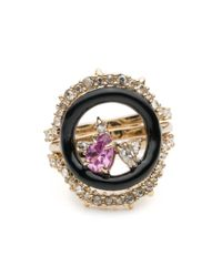 Alexis Bittar | Multicolor Enamel Framed Gemstone Band Ring With Removable Crystal Band You Might Also Like | Lyst