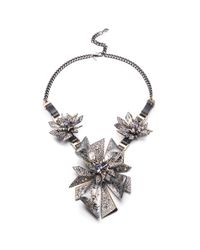 Alexis Bittar | Metallic Two-tone Crystal Studded Perennial Punk Bib Necklace You Might Also Like | Lyst