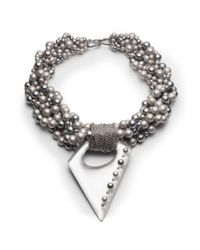 Alexis Bittar | Metallic Pearl Studded Multi-strand Pendant Necklace You Might Also Like | Lyst