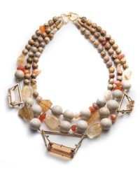 Alexis Bittar | Multicolor Triple Strand Geometric Beaded Bib Necklace You Might Also Like | Lyst