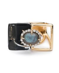 Alexis Bittar   Metallic Geometric Cocktail Ring You Might Also Like   Lyst