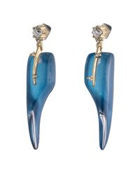 Alexis Bittar   Blue Abstract Thorn Dangling Post Earring You Might Also Like   Lyst