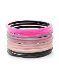 Alexis Bittar - Multicolor Ten Stack Skinniest Bangle Set You Might Also Like - Lyst
