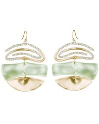 Alexis Bittar - Multicolor Crystal Encrusted Spiral Mobile Earring - Lyst