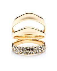 Alexis Bittar Metallic Liquid Gold Crystal Encrusted Draping Ring