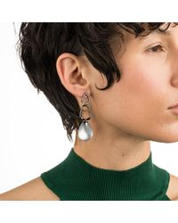 Alexis Bittar - Gray Crystal Encrusted Link Drop Post Earring - Lyst