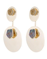 Alexis Bittar - Multicolor Double Ellipse Druzy Drop Clip Earring You Might Also Like - Lyst