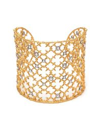 Alexis Bittar Metallic Muse D'ore Gold Crystal Studded Spur Lace Cuff You Might Also Like
