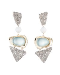 Alexis Bittar - Multicolor Crystal Encrusted With Matte White Accent Dangling Lucite Clip Earring You Might Also Like - Lyst
