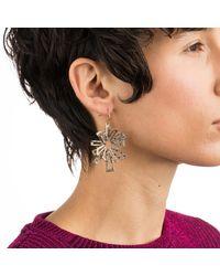 Alexis Bittar Multicolor Crystal Encrusted Brutalist Drop Earring