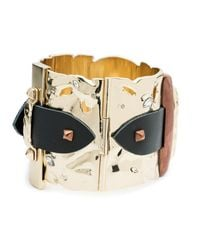 Alexis Bittar - Metallic Large Hinged Leather Detail Buckle Cuff Bracelet You Might Also Like - Lyst