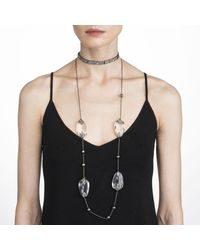 Alexis Bittar - Multicolor Crystal Accented Lucite Station Necklace You Might Also Like - Lyst