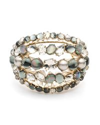 Alexis Bittar | Metallic Arrayed Stone Cluster Cuff Bracelet You Might Also Like | Lyst