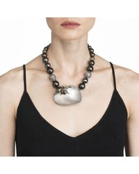 Alexis Bittar - Gray Crystal Encrusted Starburst Pearl Strand Necklace You Might Also Like - Lyst