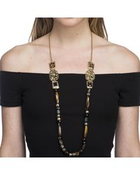 Alexis Bittar - Multicolor Four Stone Beaded Station Necklace - Lyst