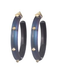 Alexis Bittar - Blue Gold Studded Hoop Earring You Might Also Like - Lyst