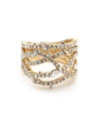 Alexis Bittar Metallic Pave Orbiting Ring