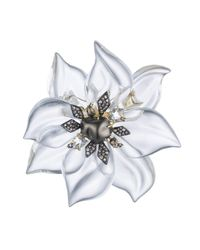Alexis Bittar | White Crystal Encrusted Starburst Pearl Pin You Might Also Like | Lyst