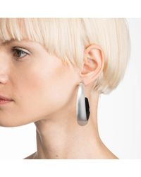 Alexis Bittar - Gray Angled Lucite Hoop Earring You Might Also Like - Lyst