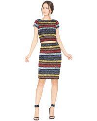 Alice + Olivia | Multicolor Kelli Embellished Crop Top | Lyst