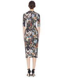 Alice + Olivia Black Delora Fitted Mock Neck Dress