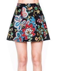Alice + Olivia Black Connor Short Lampshade Skirt