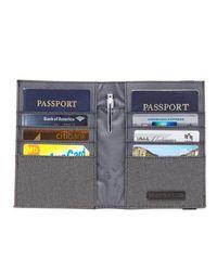 LEXDRAY Gray Paris Passport Case for men