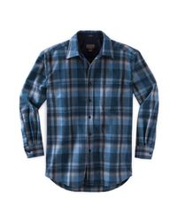 Pendleton Blue L/s Fitted Lodge Shirt for men