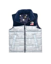 "The North Face Gray M Ic Nuptse Vest High Rise Grey Flag ""usa"" for men"