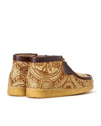 Clarks Todd Snyder X Originals Brown Paisley Wallabee Boot for men