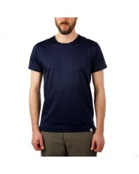 Norse Projects Blue Esben Blind Stitch T-shirt for men