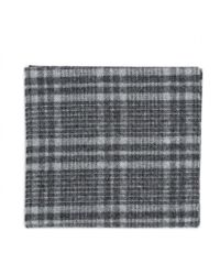Norse Projects Black Norse X Johnstons Check Scarf for men