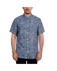 Norse Projects Blue Eg Float Weave Shirt for men