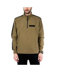 Halo Green Canvas Anorak for men