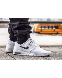 Nike White Stefan Janoski Max for men