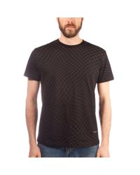 Raised By Wolves Black Warped Checkerboard T-shirt for men