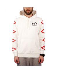 Sex Skateboards - White Sleeve Logo Hood for Men - Lyst