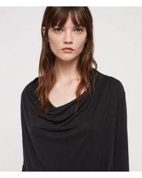 AllSaints Black Amei Long Sleeve Dress