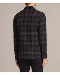 AllSaints - Black Monson Shirt for Men - Lyst