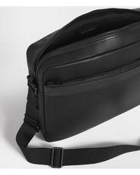 AllSaints Black Hayes Messenger Bag for men
