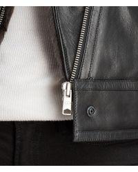 AllSaints - Black Perkins Lux Biker - Lyst