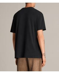 AllSaints - Black Catrabbit Crew T-shirt for Men - Lyst