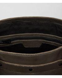 AllSaints Black Storm Leather Tote for men