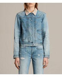 AllSaints Blue Serene Denim Jacket