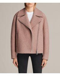 AllSaints | Pink Remi Jacket | Lyst